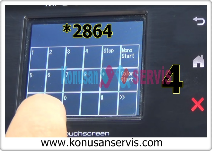 Digits 1 to 9 will appear on the screen Press the star key and say * 2864 key