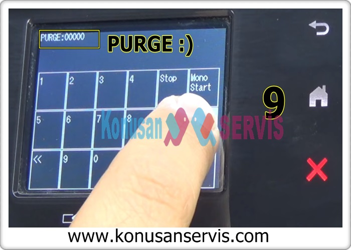 With color start, you can find the place that says purge again and reset it.
