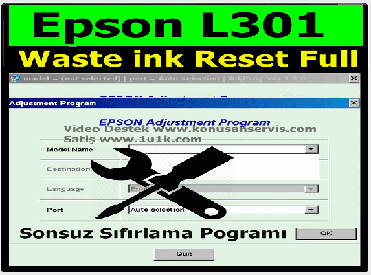 Epson L301 Reset | Epson Waste ink Pad Resetter
