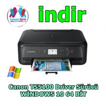 Canon TS5100 Driver  Paketi Windows 10 64 Bit indir full
