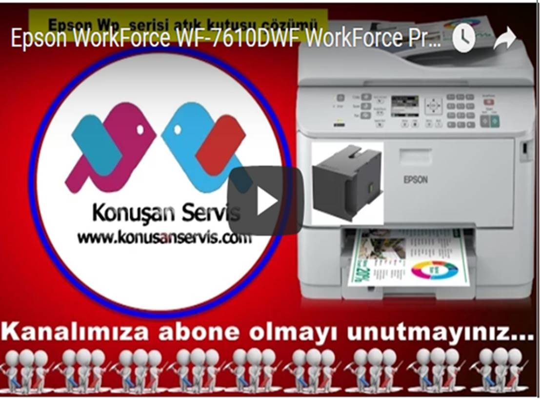 Epson Atık Kutu WorkForce WF-7610DWF