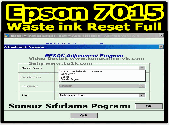 Epson Reset WF-7015 Waste İnk Error