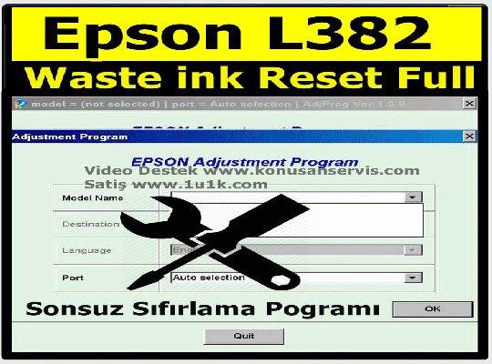 Epson L382 Ped Reset