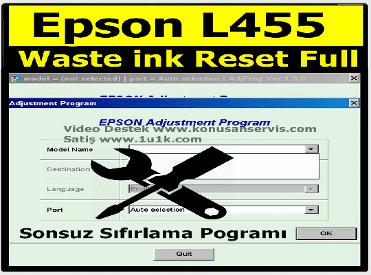 Epson L455 Waste ink Ped Resetter